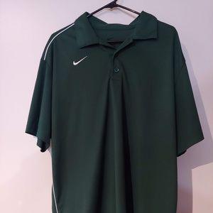 Green 1/4 button down Nike Polo Size XL